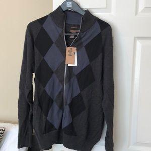 Dockers zip up sweater nwt